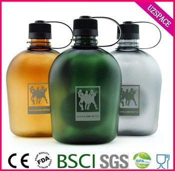 1000/750/500ml Wholesale canteen Drinking Tritan Army Water Bottles