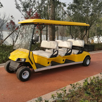 6 seater golden gas sightseeing cars with high quality