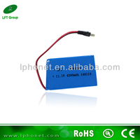 High capacity 606696 4300mAh 11.1v li-ion polymer rechargeable battery pack for portable dvd player