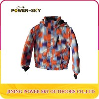 snowboard varsity jacket with hood