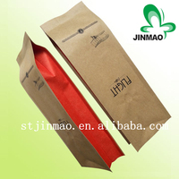 Kraft paper side gusset coffee packaging bags