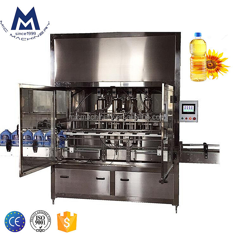 MIC Automatic filler price vegetable cooking oil/sunflower olive oil filling machine