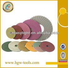 colorful Wet Polishing disc for Granite
