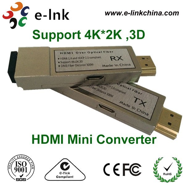 HDMI to Fiber Optic Converter Extender 300m Over Fiber Optic Cable