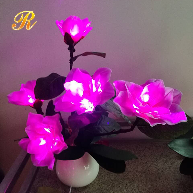 Beautiful light up artificial flowers for wedding table centerpieces