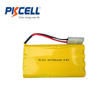 High quality 9.6V 700mah Ni-CD AA battery pack for wholesale