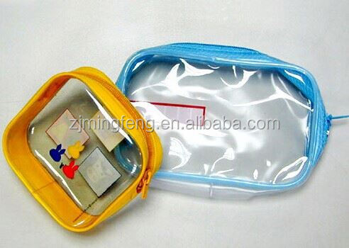 transparent zip pouch