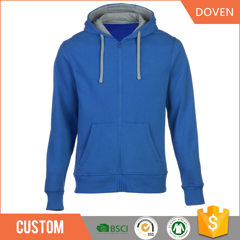 Custom mens pullover and zipper-up hoodies
