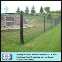 china wholesales 6 foot black pvc coated chain link fence