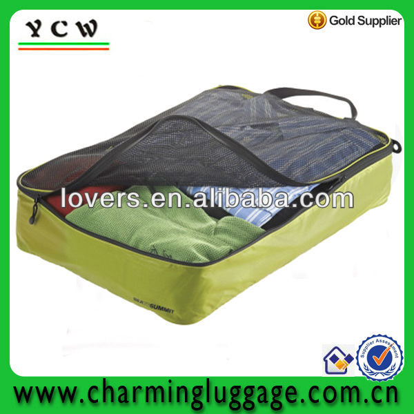 Nylon mesh zipper garment bag for clothes and shirt storage
