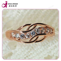 AA White loose round cz inlay copper plating rose gold wholesale cubic zirconia jewelry fashion ring