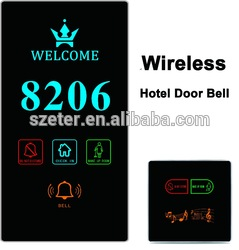 Wireless Blue Tooth Doorbell Wifi Dnd Do Not Distrub Hotel with Doorbell and Room Number