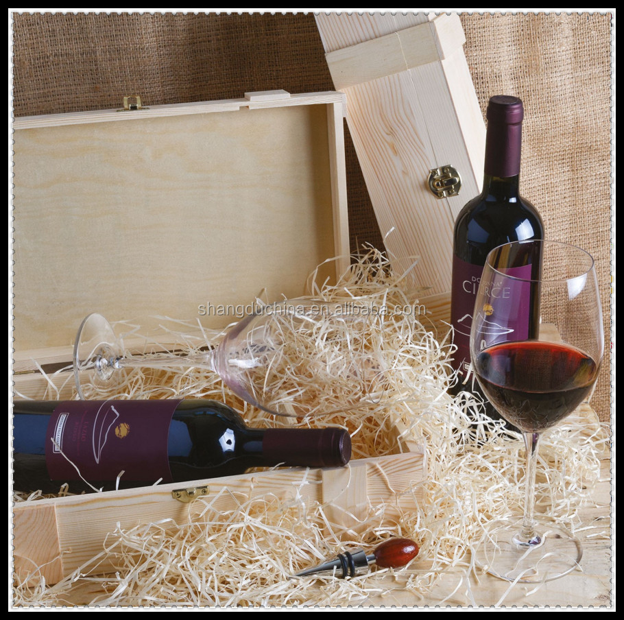 Popular personalized new cheap unfinished wooden wine box with dividers wholesale