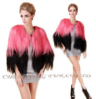 CX-G-A-129A New Style Fashion Design Genuine Goat skin Fur Coat