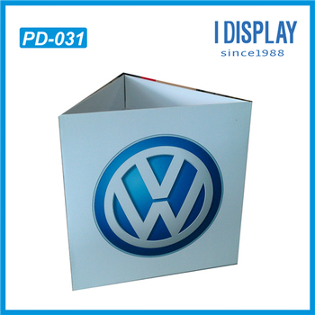 triangle shape outdoor advertising standee display