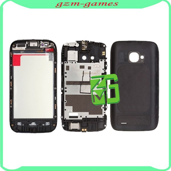 Full Housing Faceplate Cover for Nokia Lumia 710 - Black