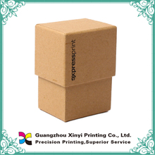 Brown shaft small cardboard storage boxes with lids for packaging holding name cards