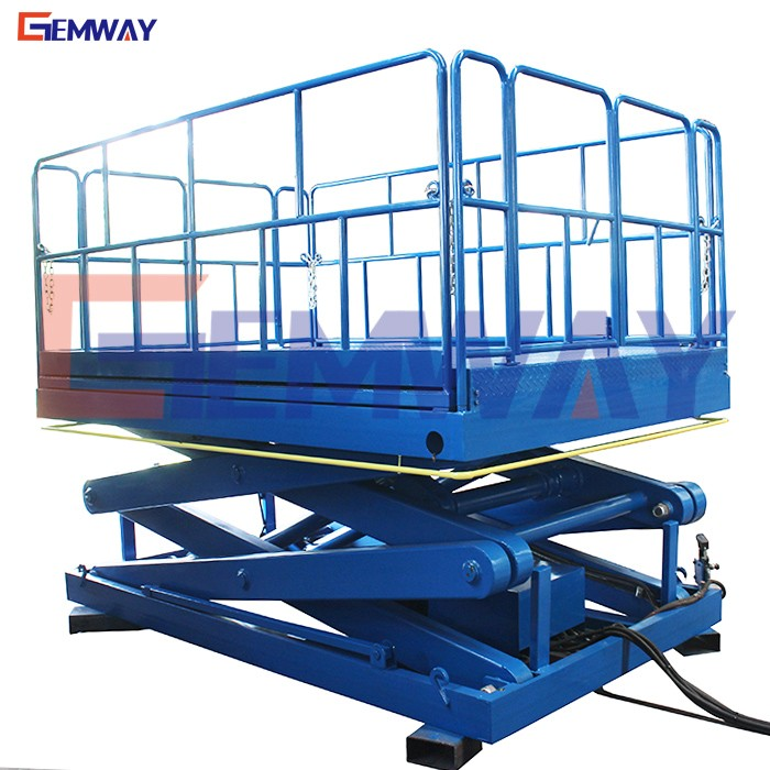 Hydraulic aerial fixed scissors lift tables for plywood
