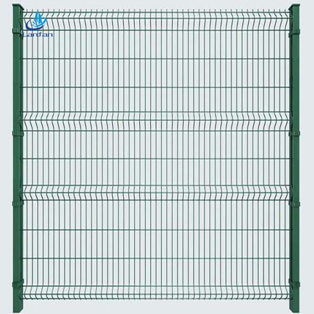 Top quality cheap PVC welded wire mesh and galvanized garden fence ,3 <strong>D</strong> curved welded wire mesh fence