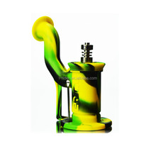 Colorful Silicone Pipe / Silicone Dab Rig 5 Inches With Titanium Nail silicone smoking pipes