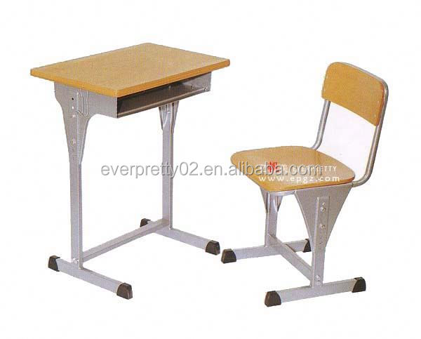 Wood Top Metal School Desk with Chairs