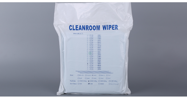 Lint free Class 100 Cleanroom microwfiber wipers