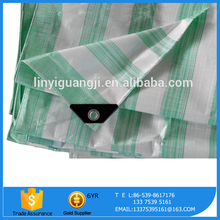 Manufacturers PE Coated Stripe Fire Retardant Tarpaulin
