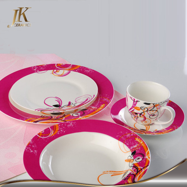 White decorative dinnerware dinner sets sale with discount at christmas holiday
