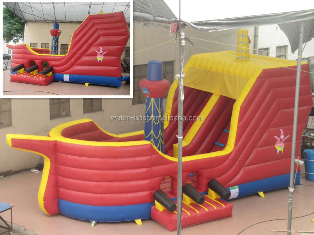 2014 Commercial Quality giant inflatable pirate ship slide