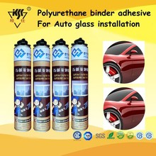 Polyurethane binder adhesive for Auto glass installation