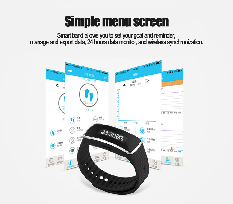 Hot anti-lost reminding silicon Waterproof sport bracelet