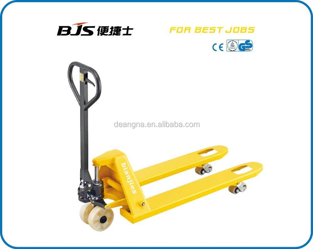 REAR HYDRUALIC LIFT TRUCK WITH DOUBLE PU NYLON WHEEL
