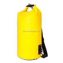 PVC tarpaulin waterproof dry bag with your logo for swimming drifting