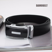 35mm High Quality Genuine Leather Automatic Buckle Ratchet Belt