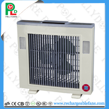 Solar box fan with LED light