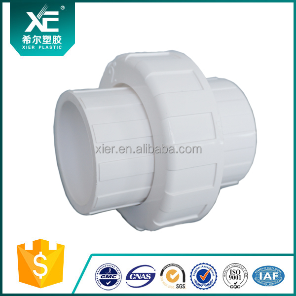 China high quality pvc union pipe fittings quick connector