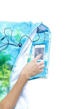 China supplier 100% cotton Oversized Beach Towel with Pillow, Water-resistant Pocket and Touch Screen Phone Pocket,