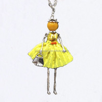 Jewelry Wholesale Alloy Girl Pendant Necklace