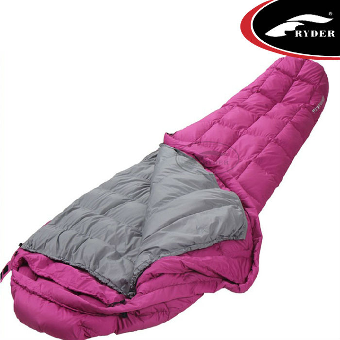 Lightweight nylon moms down sleeping bag with liner