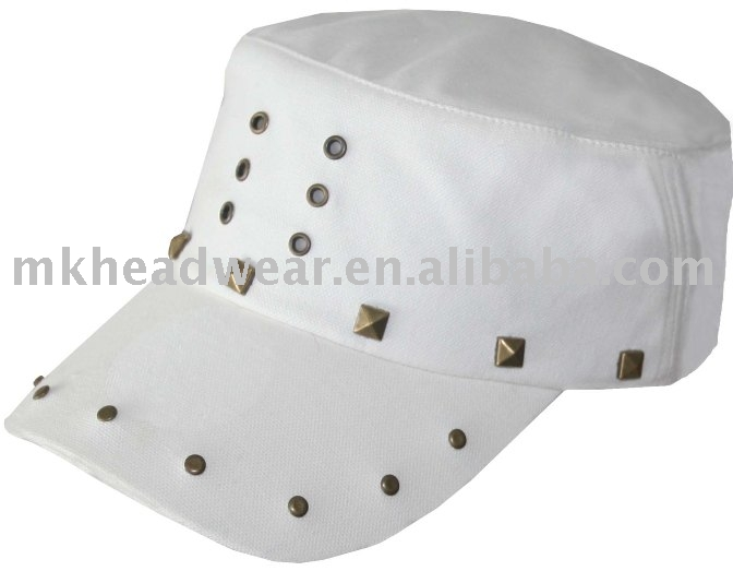 ladies fashion amy cap with brass stud