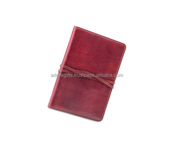 Custom Leather Cover Notebook Journal A4 A5 Plain Full Color Notebook Diary For Meeting Souvenir Gift
