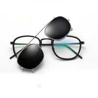 New Arrival Metal Cover Mirror Glasses Frame Polarized Sunglasses Ultra-light Polarized Clip On Sunglasses