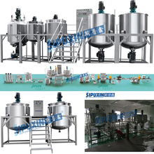 Sipuxin good price shampoo blending mixer tank/Liquid soap Mixer/Shampoo Production line