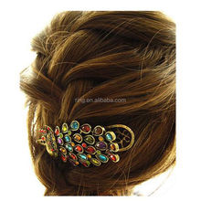 Hot Fashion New Vintage Womens Ladies Colorful Rhinestone Peacock Hairpin Barrette Hair Clip Hair Accessories Jewelry