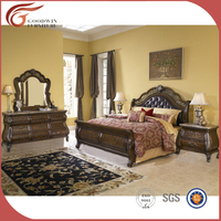 Queen Traditional american style Sleigh Bed bedroom set WA142