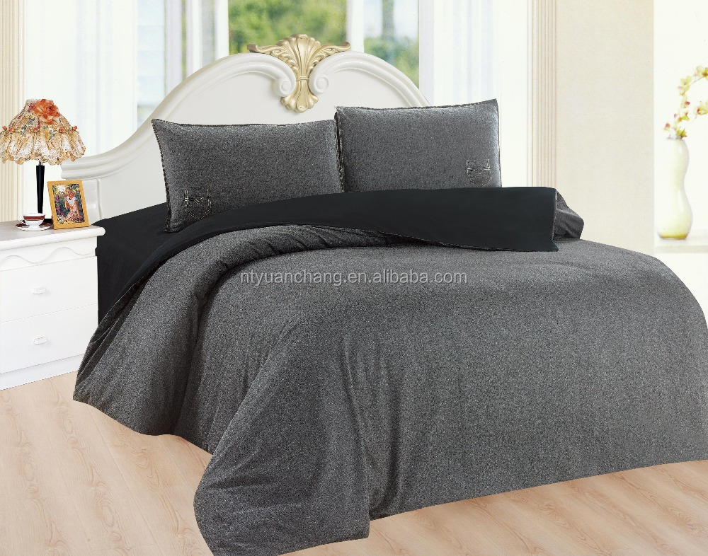 2016 hot sale plain jeans bedding set made in china