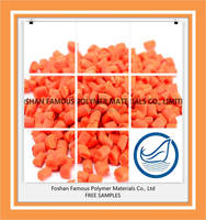 Chinese factory price ldpe raw material orange masterbatch for plastic products