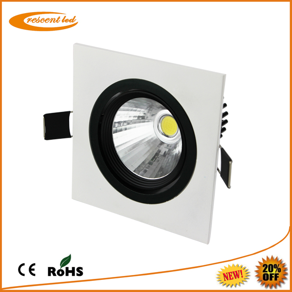 led lighting retailer 3w cob recessed square led downlight housing