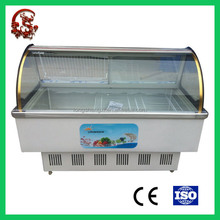 Meat cooling display cabinet top open direct cooling cooler