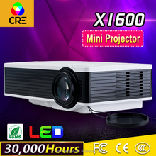 CRE X1600 most popular cheap mini led lcd projector with VGA HD VIDEO USB TV